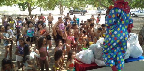 Dia das Crianças foi comemorado com muita alegria no Clube do Sindsjus/PI