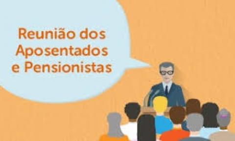 Convocatória -  reunião com os aposentados e pensionistas dia 29 de março de 2019