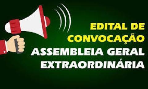 Convocação para assembleia geral - apresentação, discussão e aprovação dos pleitos para a proposta orçamentária e para pauta de reivindicações da categoria para 2020