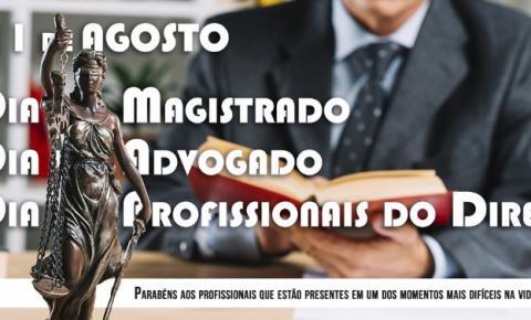 Parabéns Magistrados, Advogados e Profissionais do Direito